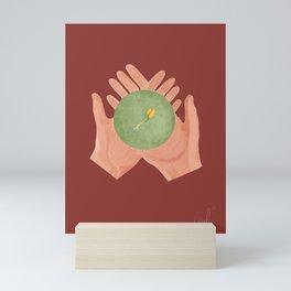 Don't Be Afraid   Coffee Seedling   Growth   Open Hands Mini Art Print