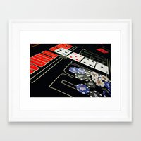 poker Framed Art Prints featuring poker by yahtz designs