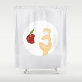 iLove Apple Shower Curtain