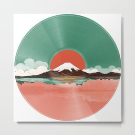 Japanese Landscape Vinyl Style Metal Print