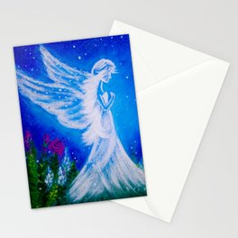 Angel at night  Stationery Cards