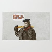 yetiland Area & Throw Rugs featuring Psycho Killer by Eric Fan