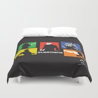 guardians Duvet Covers featuring Guardians by PeterParkerPA