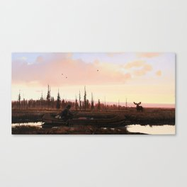 The Moose Hunter Canvas Print