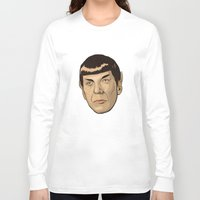 spock Long Sleeve T-shirts featuring Spock by Mimi