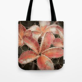 Percolated Tropical Flowers Tote Bag