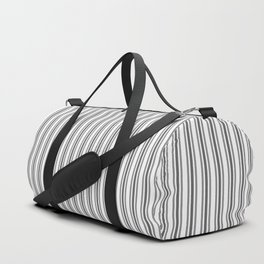 Trendy French Black and White Mattress Ticking Double Stripes Duffle Bag
