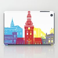 oslo iPad Cases featuring Oslo skyline pop by Paulrommer