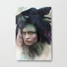 Girl of October Metal Print