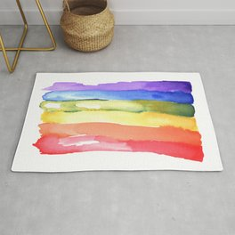 rainbow watercolor #2 Rug