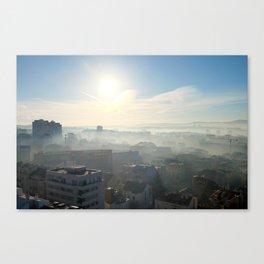 Belgrade / Morning Fog Canvas Print