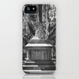 Bonaventure Cemetery Statue iPhone Case
