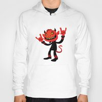 heavy metal Hoodies featuring Heavy Metal Devil by John Schwegel