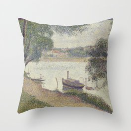 Gray weather, Grande Jatte Throw Pillow
