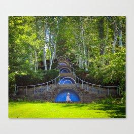 Blue Steps at Naumkeag Canvas Print