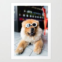 Joyful Doggo Art Print