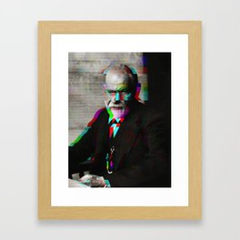 Freud Glitch Love Framed Art Print