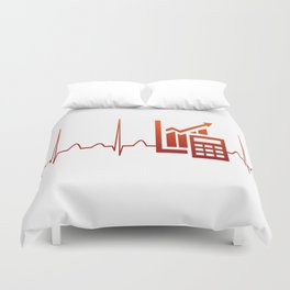 ACCOUNTANT HEARTBEAT Duvet Cover