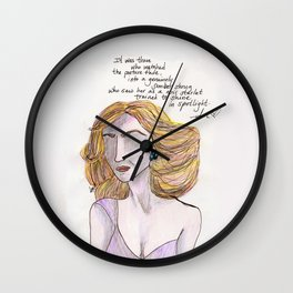In Noir Spotlight Wall Clock
