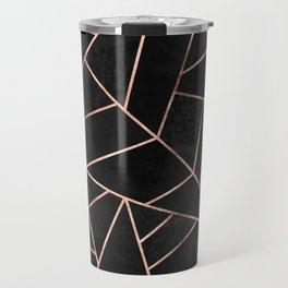 Velvet Black & Rose Gold Travel Mug