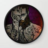 illuminati Wall Clocks featuring ILLUMINATI   by AZZURRA DESIGNS