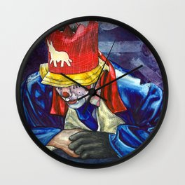 Thinking Clown Wall Clock