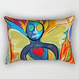 Young Soul and Pure Heart Street Art Graffiti Rectangular Pillow