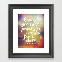 James 1:17 Framed Art Print