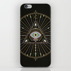 Evil Eye Mandala – Black iPhone & iPod Skin