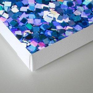 Dazzling Blue Sequences (Color) Canvas Print