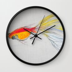 Goldfish Pond (close up#1) Wall Clock