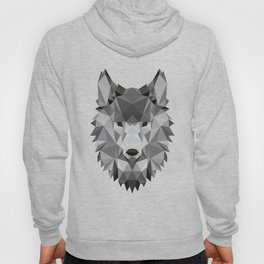 Low poly origami Wolf head Hoody