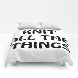 Knit All the Things in Black Comforters