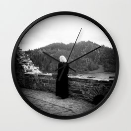 Ghost of the Castle - Film Photograph taken in Poland Wall Clock