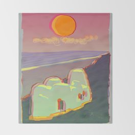 Red Moon Summer Vibrations Throw Blanket