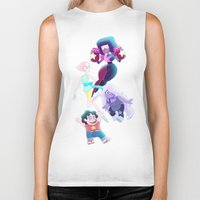 enerjax Biker Tanks featuring Steven Universe - We are the Crystal Gems by enerjax
