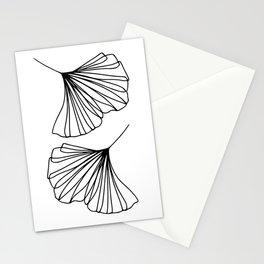 Ginkgo Leaves Minimal Line Art Stationery Cards