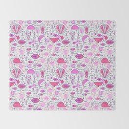 Sea pattern no 2 (pink) Throw Blanket