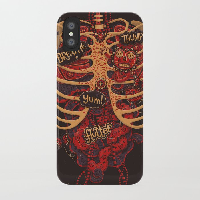 Anatomical Study - Day of the Dead Style iPhone Case