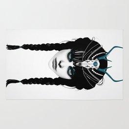 Wakeful Warrior - In Blue Rug