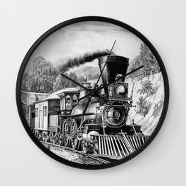 The Express Train: Currier & Ives 1870 Wall Clock