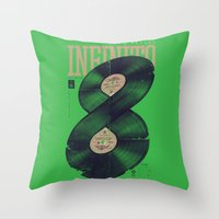 moto Throw Pillows featuring Moto Perpetuo by Vó Maria