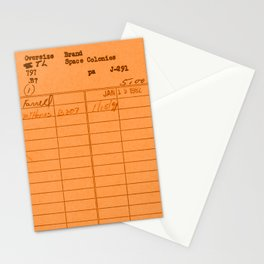 Library Card 797 Orange Stationery Cards