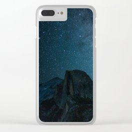 Milky Way over Half Dome Clear iPhone Case