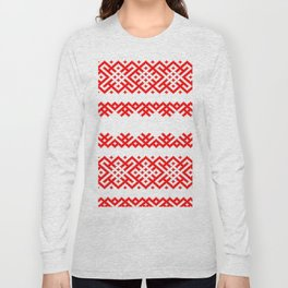 Pattern - Bogoroditsa - Slavic symbol Long Sleeve T-shirt