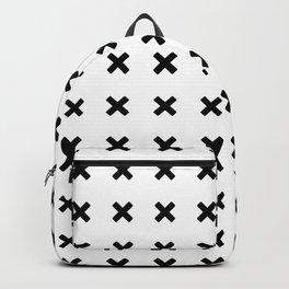 BLACK CROSS ON WHITE BACKGROUND Backpack
