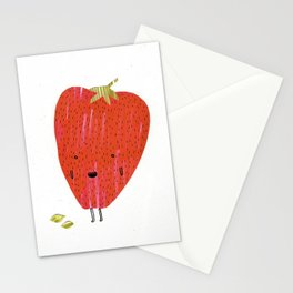 Eat Your Fruit! // Strawberry Stationery Cards