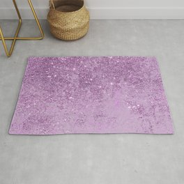 Abstract glam violet lilac marble glitter Rug
