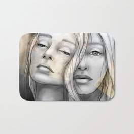 """Reflection II"" by carographic Bath Mat"