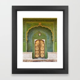 Green gate City Palace Jaipur, India Framed Art Print